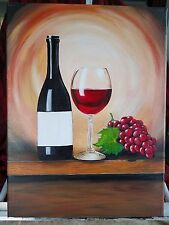 Personalized painting with Wine Bottle Label custom Monogram, couple's name, etc