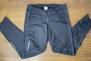 Garneau Solano 2 Men's Tights Size XL Black Cycling Pants (No Chamois) H2oproof