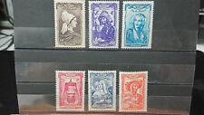 Loy 6 Timbres France Coiffes régionales du XVIII 1943