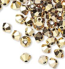 144 Crystal Aurum 2X,  Xilion 3mm Bicone Swarovski Crystal Beads (5328)