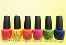 Opi Nail Lacquer *Mod About Brights Collection 2008* 6 Shades Set New Free Ship!