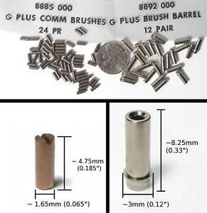 72pc Aurora AFX G+ G-PLUS Carbon Commutator Brush & Barrels TuneUp Lot 8885 8892