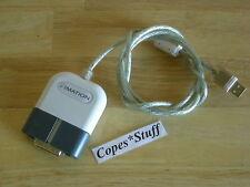 iMation SuperDisk 120M High Capacity Floppy External USB Data Cable ~ Blue White