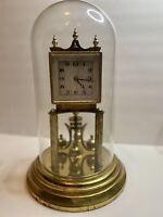 Vintage Kundo Kieninger & Obergfell Germany 400 Day Anniversary Clock Dome