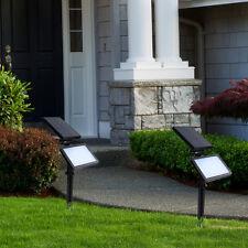 HOOREE LED Solar Garden Lamp Spot Light Outdoor Lawn Landscape Spotlight Light