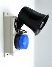 Outdoor Alarm Siren And Strobe. 12v Blue Flashing Strobe And Two Tone Siren