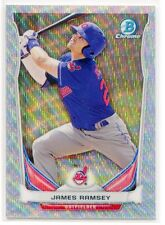 JAMES RAMSEY RC #20/25 2014 BOWMAN DRAFT CHROME SILVER WAVE REFRACTOR INDIANS SP