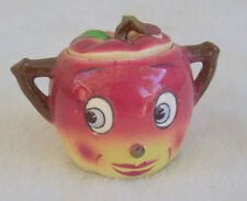 Vintage PY Apple Head Condiment Jar Anthropomorphic Jam Jelly Sugar Japan