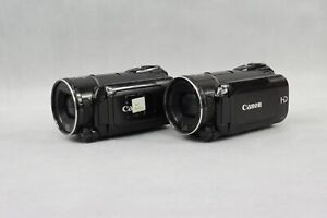 2x Canon Legria HF S200E HD Digital Video Camcorder Black Used 2010 Model