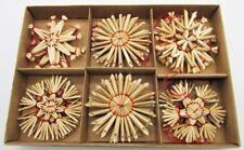 60 Stroh Weihnachtsanhänger je Ø 6 cm Strohsterne Christbaumschmuck Weihnachten