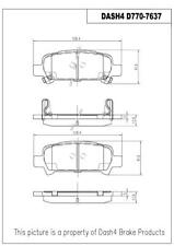 D770 Premium Semi Metallic Quality REAR DISC BRAKE PAD SET D770