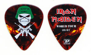 Iron Maiden Janick Gers Trooper Gers Brown Guitar Pick - 2006-2007 Tour