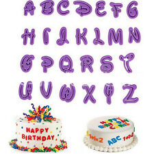 26Pcs/set Alphabet Number Letter Fondant Cake Cookie Cutter Pan Mold BiscuitH&T