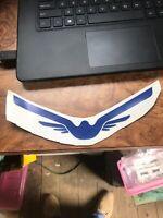 "San Antonio Wings MINI HELMET DECAL Rare WFL Logo 3"" Static Cling World Football"