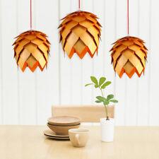 Nordic Style Pine Cone Shape Pendant Wood Haning Lamp Chandelier Dec Light 25cm