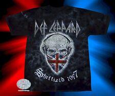 New Def Leppard Union Jack Skull Retro Men's Vintage Classic 1977 T-Shirt