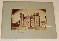 Photographie d'un CHATEAU à BOURGES - Tirage albuminé Circa 1900