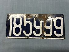 Antique Porcelain Belgium License Plate