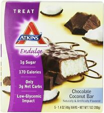 Atkins Endulge Bars by Atkins Nutritionals, 5 bars Chocolate Coconut 1 pack