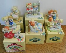 Lot of 7 Cabbage Patch Kids Fine Porcelain Figurines from 1984-1985