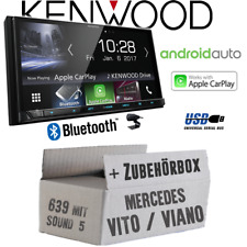 Mercedes Vito/Viano 639 Radio KENWOOD Bluetooth androidauto carplay Kit de montage