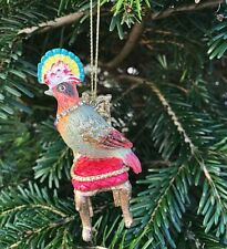 Vintage Victorian Style Parrot on Chair Christmas Tree Decoration Gisela Graham