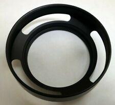 46mm thread metal Lens Hood Vented Shade threaded for 50mm normal lenses