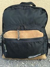 VINTAGE OUTDOOR PRODUCTS BLACK CORDURA PLUS LEATHER BOTTOM BACKPACK DAY PACK