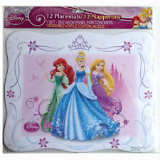"12 Disney Princesses Birthday Party Paper Placemats 13"" x 10.5"" NEW"