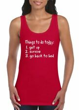 THINGS TO DO Womens Funny printed softstyle athletic vest- gift tank top