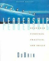 Leadership: Research Accesorios, Práctica, Y Habilidades Andrew J.Dubrin