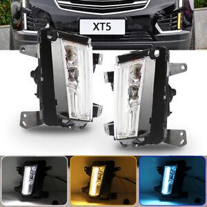[SwitchBack] 2017-2018 Cadillac XT5 LED DRL w/Turn Signal Fog Lights Lamps