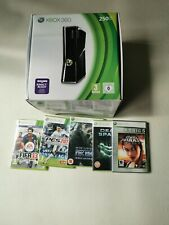 Xbox 360 250gb Console Plus 5 Games Boxed