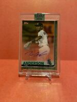 TIM ANDERSON 2019 Topps Clearly Authentic Autograph Auto Green /99 White Sox