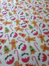 Tablecloth Gingerbread Man Polycotton christmas table 150cm x 110cm more sizes