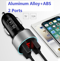 Car Charger Mini Dual USB 12v Lighter Socket Adapter plug fast-charging twin usb