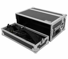 4 Space 4U ATA Effects Rack Road Tour Flight Case w/Lid Bags by Elite Core
