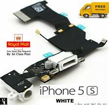 White Replacement Charging Dock Port Connector, Flex Cable for iPhone 5S. 🇬🇧