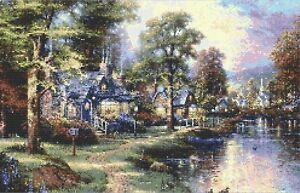 RIVER COTTAGES # 2 - COUNTED CROSS STITCH CHART