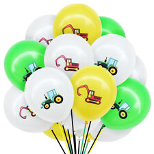 12'' 5/10pcs Construction Vehicle Latex Balloons Kids Toys Birthday Party Decor
