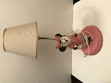 Mickey Minnie Mouse lamp Walt Disney prod ceramic base pink polka dots cute