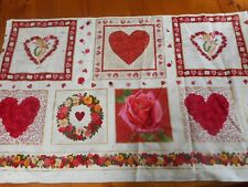 LARGE FANCY HEARTS ~ Quilting Fabric 100% COTTON (New) 175 x 110 cms (END ROLL)