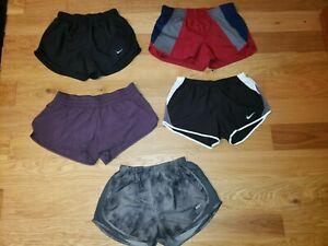 LOT OF 5 Nike DriFit Tempo LULULEMON WOMENS Running Workout Shorts Lined MEDIUM