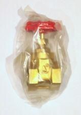 1 Inch NPT Female Threaded Brass Port Gate Valve Inline 2 Way Bronze IPS Shutoff