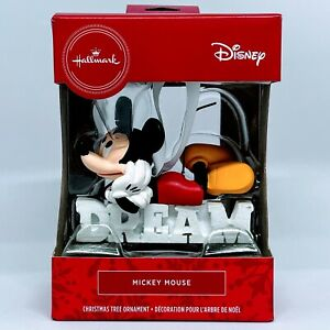Hallmark Disney Mickey Mouse Dream Ornament Christmas Tree Collector Great Gift