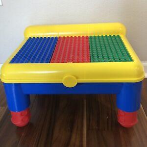 Toddler Mega Bloks Lego Duplo Ritvik Building Block Lap Top Table With Storage