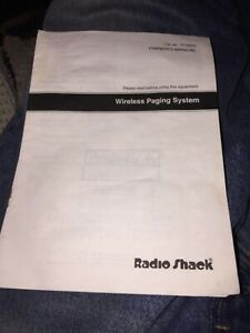 Radio Shack Business/Home Wireless Paging System 17-6020 Owners Manual