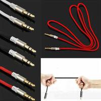 1M 3.5mm Jack Plug To Plug Male Cable Audio Lead For Headphone MP3 AUX Rand C7D3
