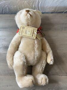 Hermann Original Teddy Bear Mohair SIGNED Helen Sieverling Jointed 1657/3000