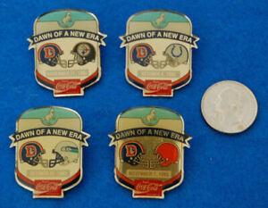 Denver Broncos Dawn Of A New Era Lapel Hat Vest Pin Set, Lot of 4, Complete